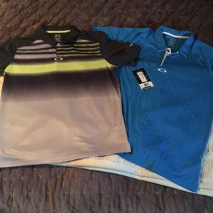 Bundle of NWT Oakley Men's XL Golf Shirts